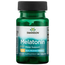 Load image into Gallery viewer, Swanson Melatonin - Dual-Release Formula 60 tablets