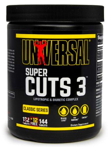 Universal Nutrition Super Cuts 3 144 tablets