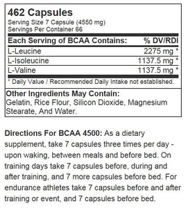 AST Sports Science BCAA 4500 462 capsules