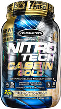 Load image into Gallery viewer, MuscleTech Nitro Tech Casein Gold 2.5 lbs