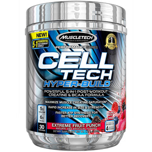 MuscleTech Cell Tech Hyper-Build 30 Servings Fruit Punch
