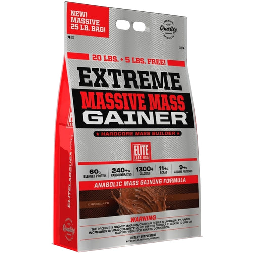 Elite Labs Extreme Massive Mass Gainer 25 lbs Chocolate