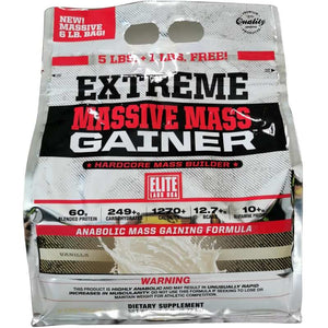 Elite Labs Extreme Massive Mass Gainer 6 lbs Vanilla