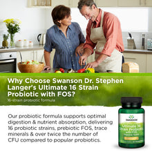 Load image into Gallery viewer, Swanson Ultimate 16 Strain Probiotic with FOS 60 Veg DRcap