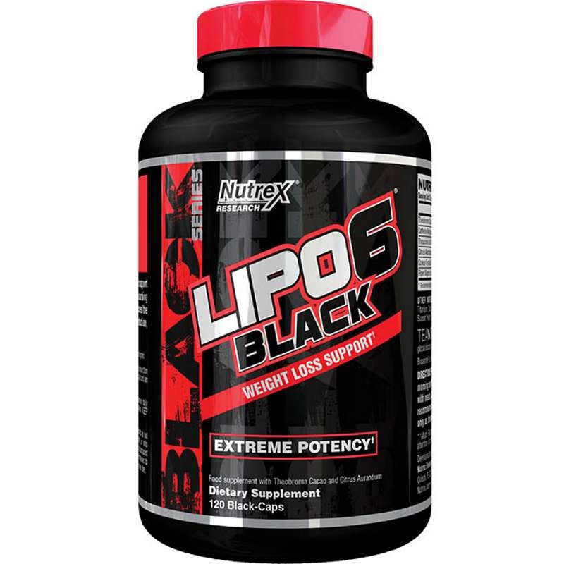 Nutrex Lipo6 Black Weight Loss Support 120 black-caps