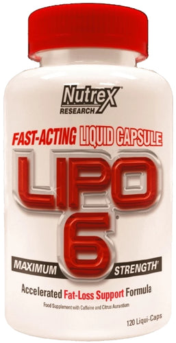 Nutrex Lipo6 Maximum Strength 120 veggie liquid-capsules (Int. Version)