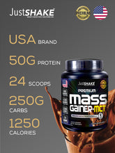 Load image into Gallery viewer, JustSHAKE Mass Gainer + MCT 2.6 lbs