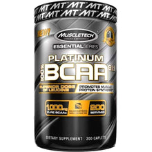 Load image into Gallery viewer, MuscleTech Platinum 100% BCAA 8:1:1 200 caplets