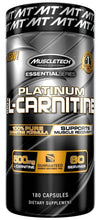 Load image into Gallery viewer, MuscleTech Platinum 100% Carnitine 180 capsules