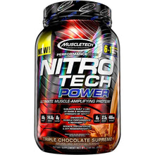 Load image into Gallery viewer, MuscleTech Nitro Tech Power 2 lbs Triple Chocolate Supreme