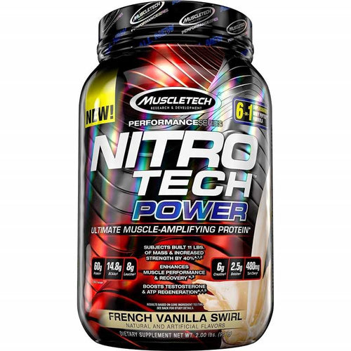 MuscleTech Nitro Tech Power 2 lbs French Vanilla Swirl