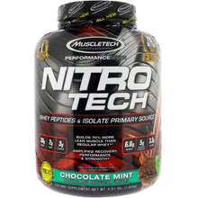 Load image into Gallery viewer, MuscleTech Nitro Tech 4.01 lbs Chcocolate Mint