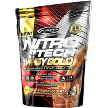 Load image into Gallery viewer, MuscleTech Nitro Tech Whey Gold 1 lb Double Rich Chocolat