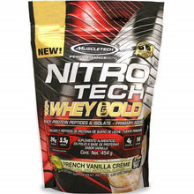 Load image into Gallery viewer, MuscleTech Nitro Tech Whey Gold 1 lb French Vanilla Creme