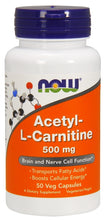 Load image into Gallery viewer, NOW Acetyl-L-Carnitine 100 capsules