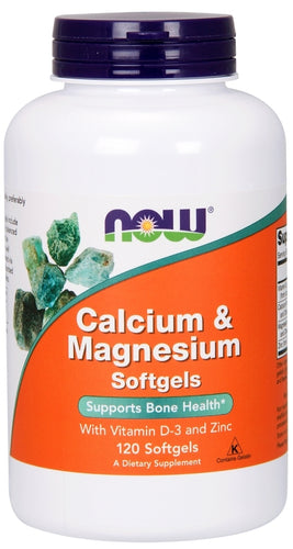 NOW Calcium and Magnesium Vitamin D 120 softgels
