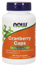 Load image into Gallery viewer, NOW Cranberry Caps 100 veg capsules