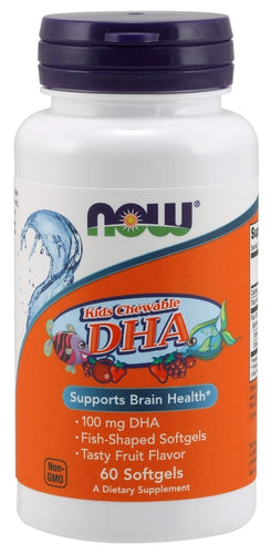 NOW Kids DHA Chewables 60 softgels