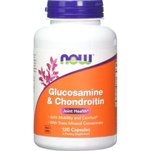 Load image into Gallery viewer, NOW Glucosamine and Chondroitin 120 capsules