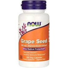 Load image into Gallery viewer, NOW Grape Seed Antioxidant 100 veg capsules