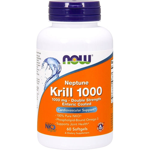 NOW Neptune Krill Oil 1000 mg Enteric Coated 60 softgels