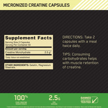 Load image into Gallery viewer, Optimum Nutrition Creatine 200 capsules