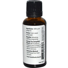 Load image into Gallery viewer, NOW Essential Oil 30 ml Orange Oil