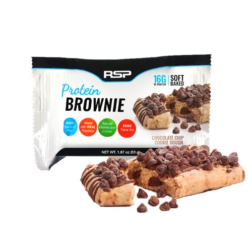 RSP Nutrition Protein Brownie 53g Chocolate Chip Cookie Dough