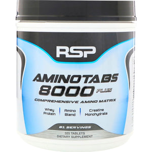 RSP Nutrition Amino Tabs 8000 Plus 325 tablets