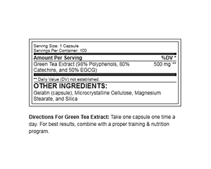 RSP Nutrition Green Tea Extract 100 capsules