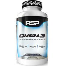 Load image into Gallery viewer, RSP Nutrition Omega 3 200 softgels