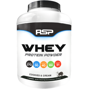 RSP Nutrition Whey Protein Powder 4.7 lbs Cookies & Cream