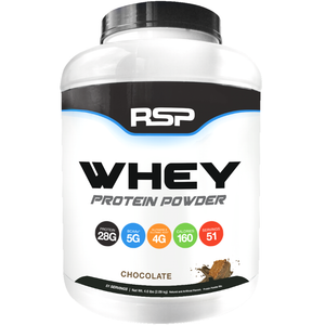 RSP Nutrition Whey Protein Powder 4.6 lbs Chocolate