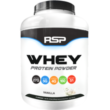 Load image into Gallery viewer, RSP Nutrition Whey Protein Powder 4.6 lbs Vanilla