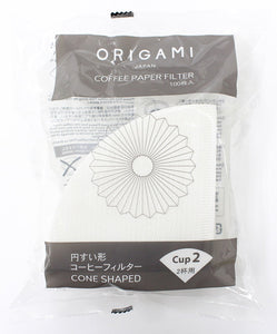 ORIGAMI Filter Paper (1-2 Cups//Cone-shape//100 Sheets)