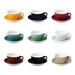 LOVERAMICS Cappuccino Cup with Saucer (multiple colours//200ml)