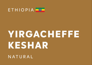 ETHIOPIA Yirgacheffe Keshar (Natural) - Whole Beans