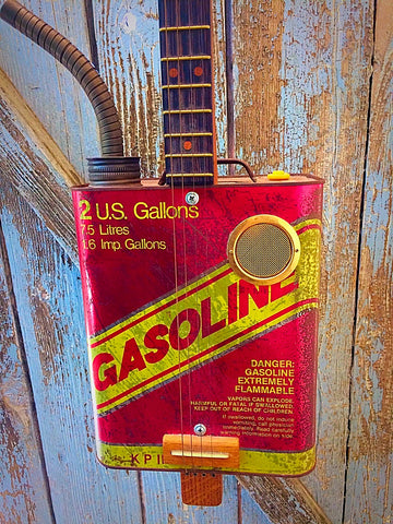 Vintage 1980's Gas Can Resonator (four string) By C.B. Gitty
