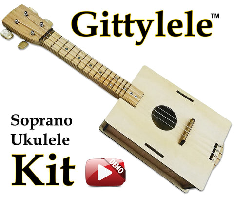 Gittylele Build-it-Yourself DIY (Soprano) Ukulele Kit