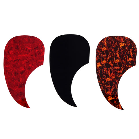 "3 pcs/lot Drop Shape Right Handed Acoustic Guitar Pickguard Pick Guard Self-adhesive Scratch Plate For 40 "" 41 "" guitar"