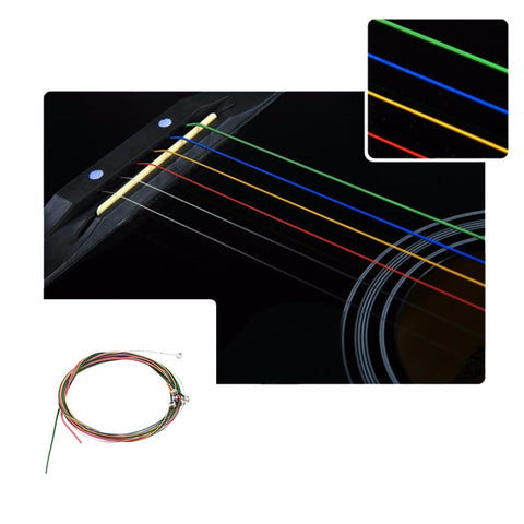 Multi Colored Acoustic Guitar String