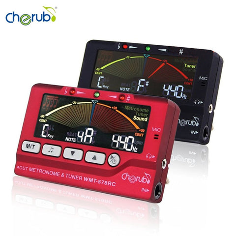 Cherub WMT-578RC LCD Display Flute/Sax Tuner Metronome Tuner Built-In Mic Musical Instruments Accessories High Quality