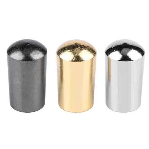 3pcs 3 Way Toggle Switch Caps 4mm Brass Knobs for EPI LP Electric Guitar Silver Gold Black