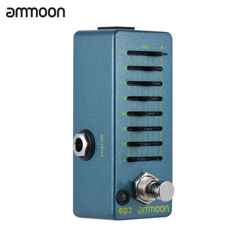 ammoon EQ7 Mini Guitar Equalizer Effect Pedal 7-Band EQ True Bypass