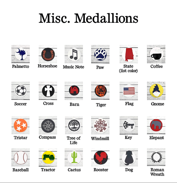 Miscellaneous Medallions - for use with HOME base