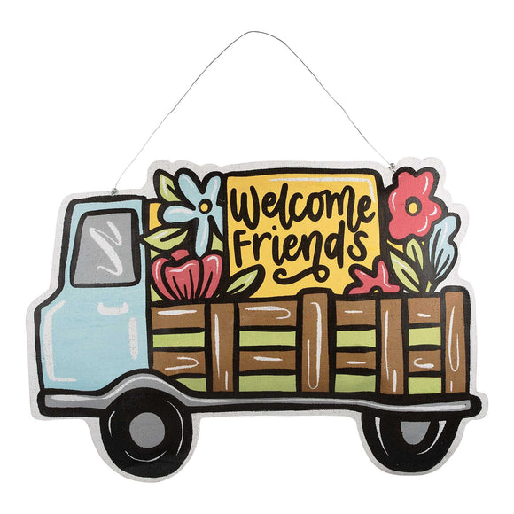 Welcome Friends Truck Reversible Burlee