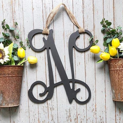Vine Style Letter for Door
