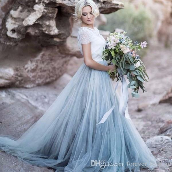 Romantic and pretty Dusty Blue