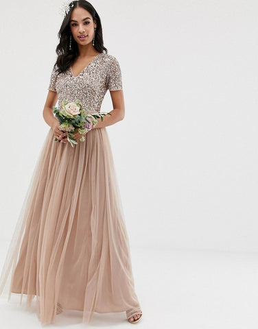 Rustic Luxe Wedding Bridesmaid Dress