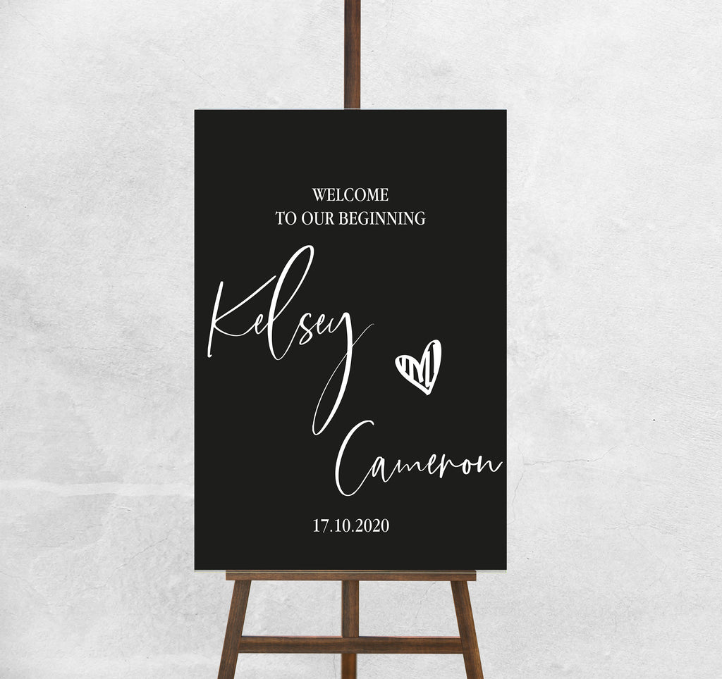Wedding Welcome Sign - ' Kelsey' Personalised  Welcome Sign